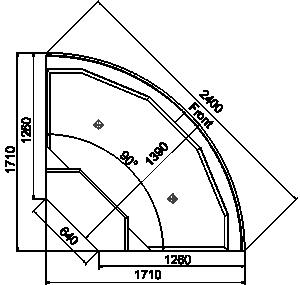 Угловой элемент Missouri cold diamond MC 126 ice self 084-ER90