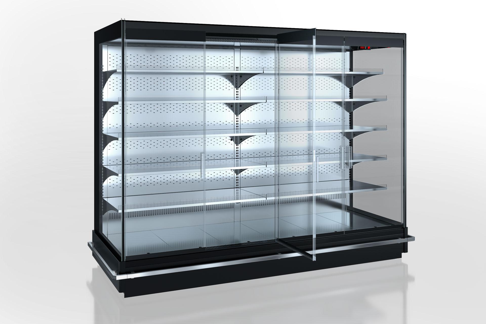 Холодильнные пристенные витрины Indiana 2 MV 070 MT D 205-DLM (распашные двери)