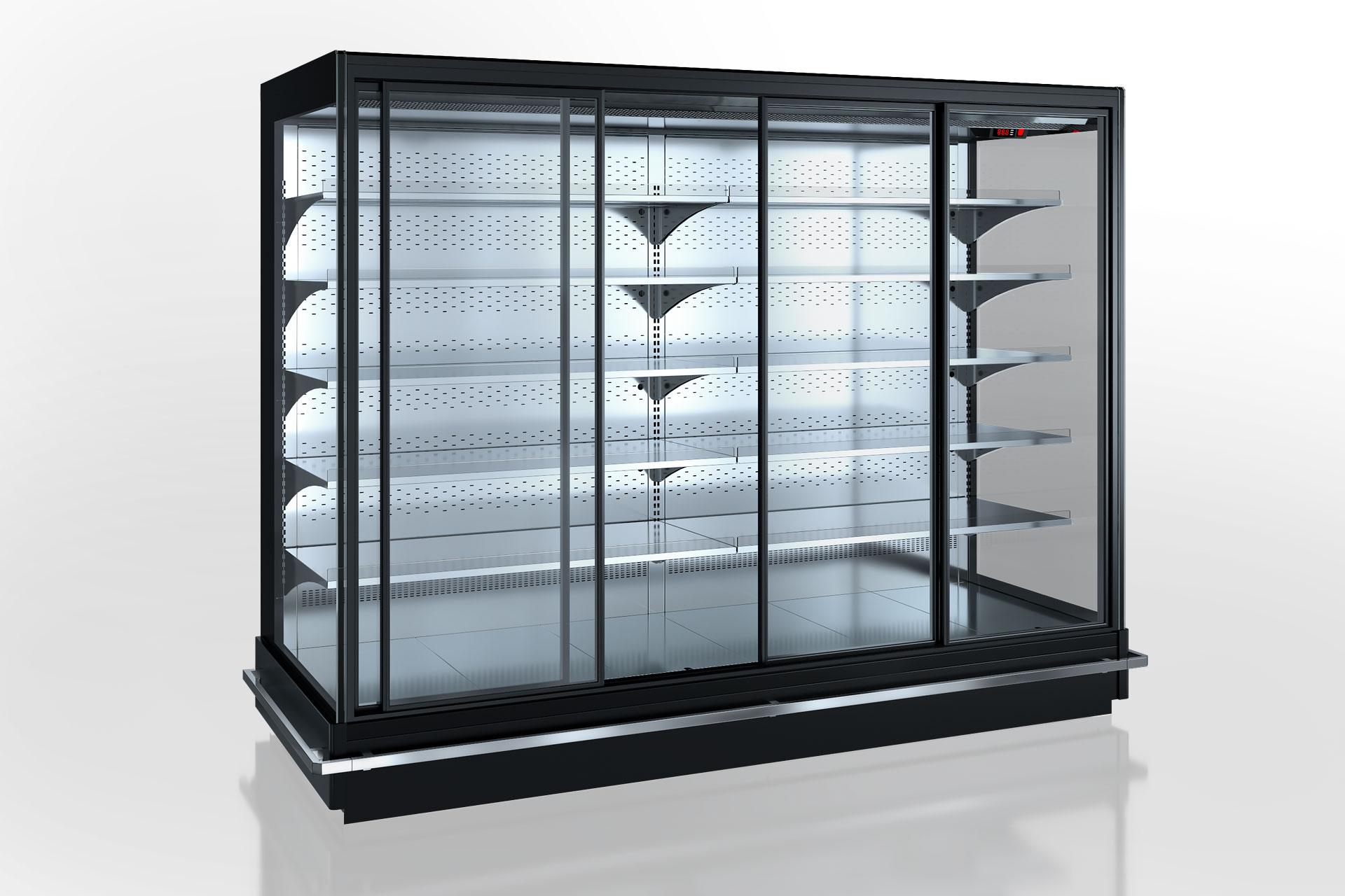 Холодильнные пристенные витрины Indiana 2 MV 080 MT D 205-DLM (раздвижные двери)