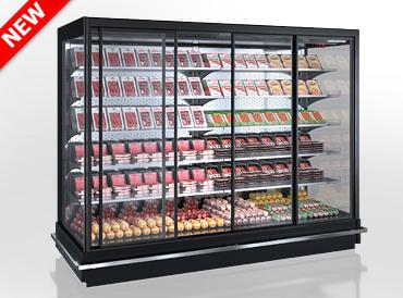 Холодильні пристінні вітрини Indiana 2 MV 080/090 MT D 205-DLM (розсувні двері)