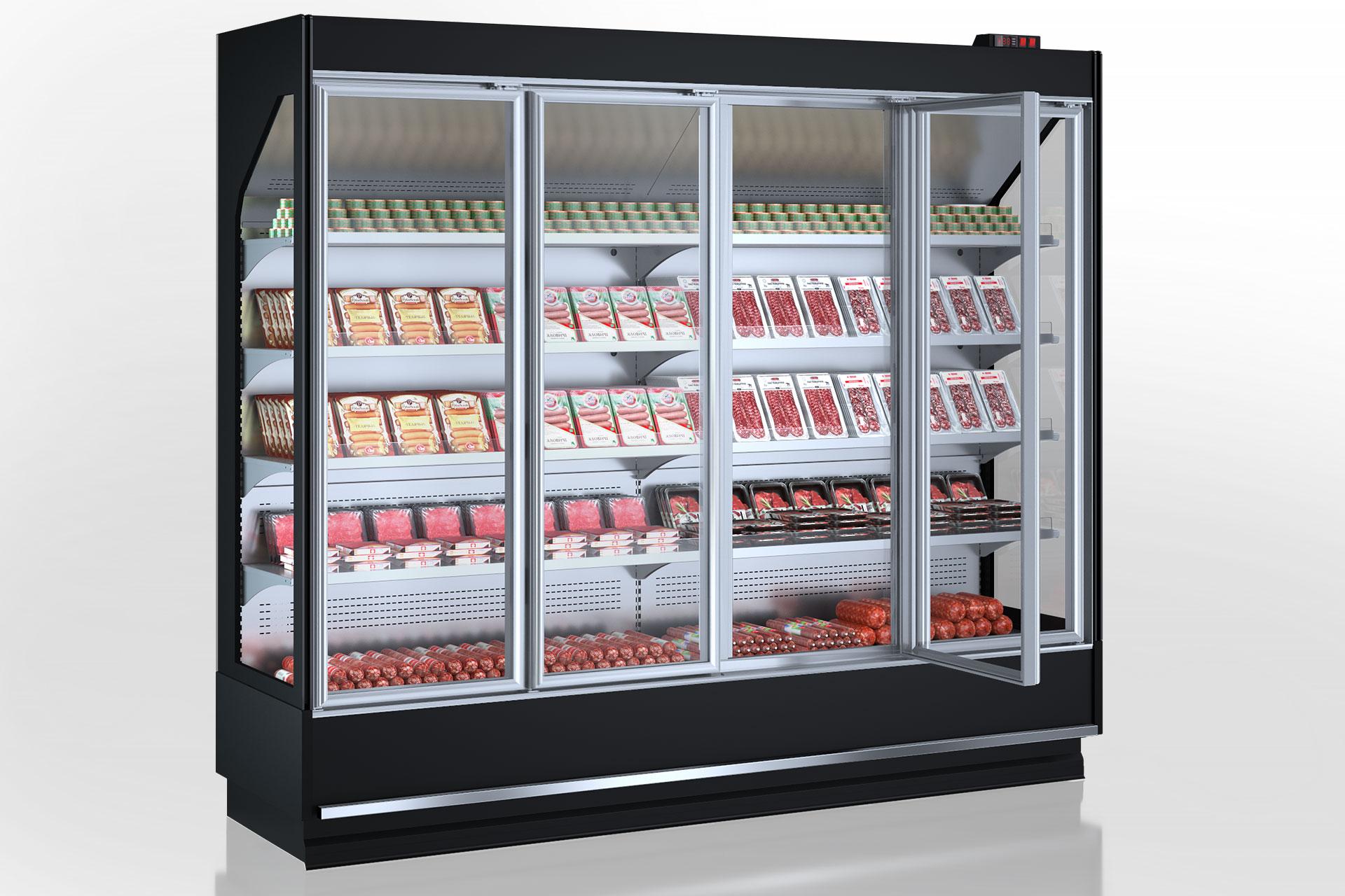 Multideck cabinets Indiana cube V AV 070 MT D 220-DLA