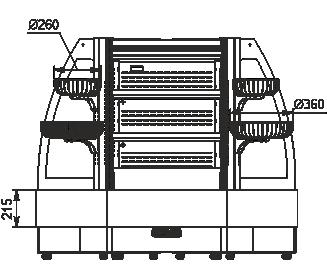 Полувертикальная витрина Indiana eco ASV 070 MT O 130-DLM