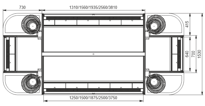 Halbhohe Wandkühlregale Indiana eco ASV 070 MT O 130-DLM
