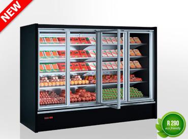 Холодильні напіввертикальні вітрини Indiana eco medium ASV 070 MT D 170-DLM/DLA