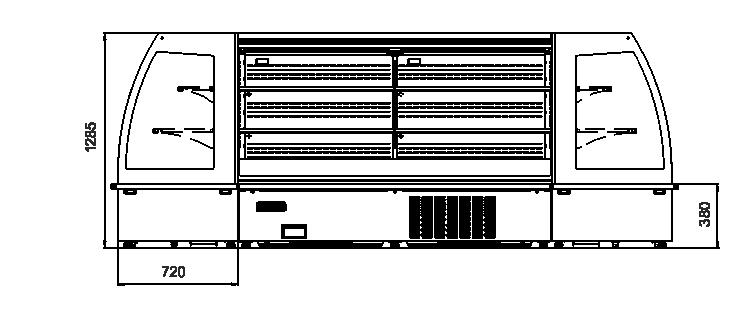 холодильні вітрини напіввертикальні вітрини Indiana eco MSV 070 MT O A