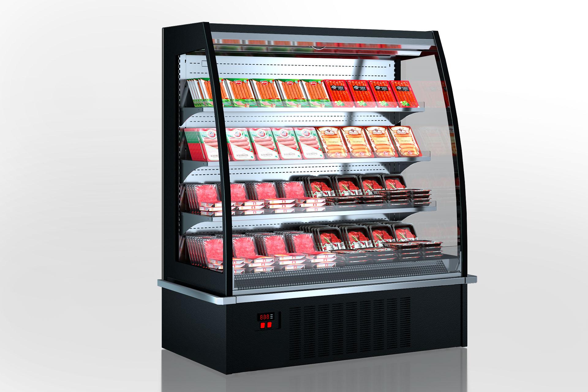 Холодильні напіввертикальні вітрини Indiana eco ASV 070 MT O 160-DLA