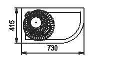 Полувертикальная витрина Indiana eco NSV 070 O 130-ES-90 - левый угловой элемент