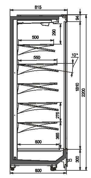 Пристінні вітрини Indiana MV 080 MT D 220-DLM