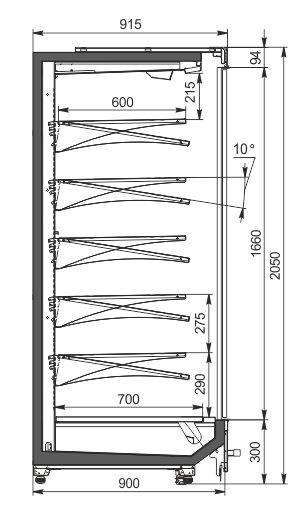 Пристінні вітрини Indiana MV 090 MT D 205-DLM