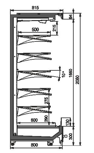 Пристінні вітрини Indiana MV 080 MT O 205-DLM
