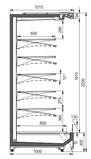 Multideck cabinets Indiana MV 100 MT O 220-DLM