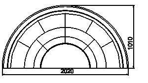 Полувертикальная витрина Мissouri cold diamond island MV 101 deli self 130-DLM/DLA-TR202