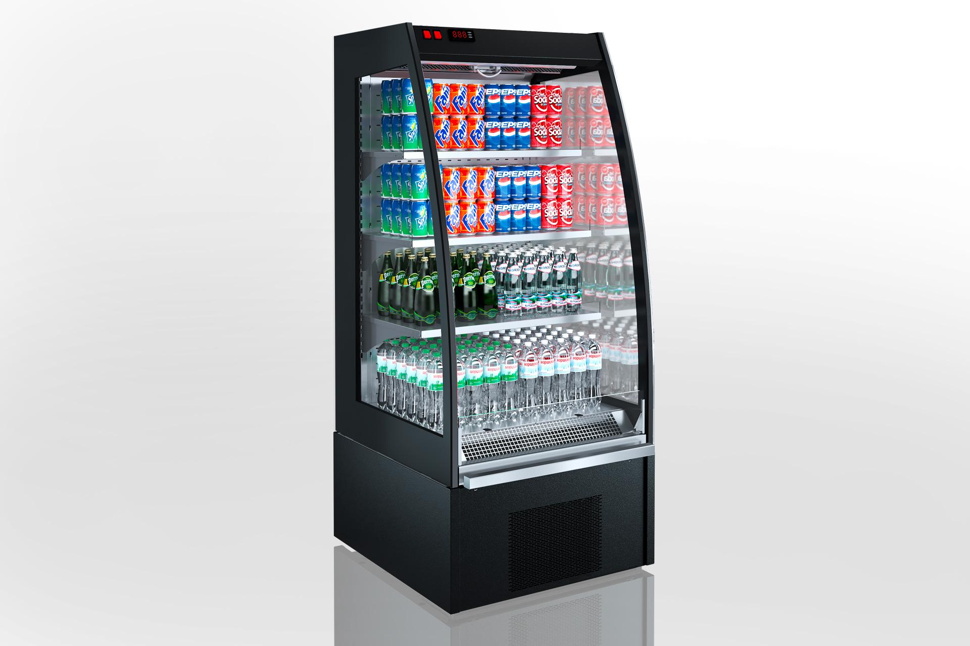 Холодильні напіввертикальні вітрини Indiana eco MSV 070 MT O 160-DLA