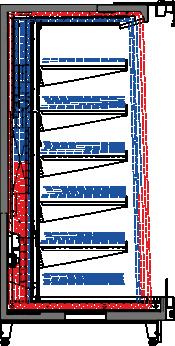 Tiefkühlwandvitrinen Louisiana FV MV 095/105/115 MT VF M Doppelter Luftschleier