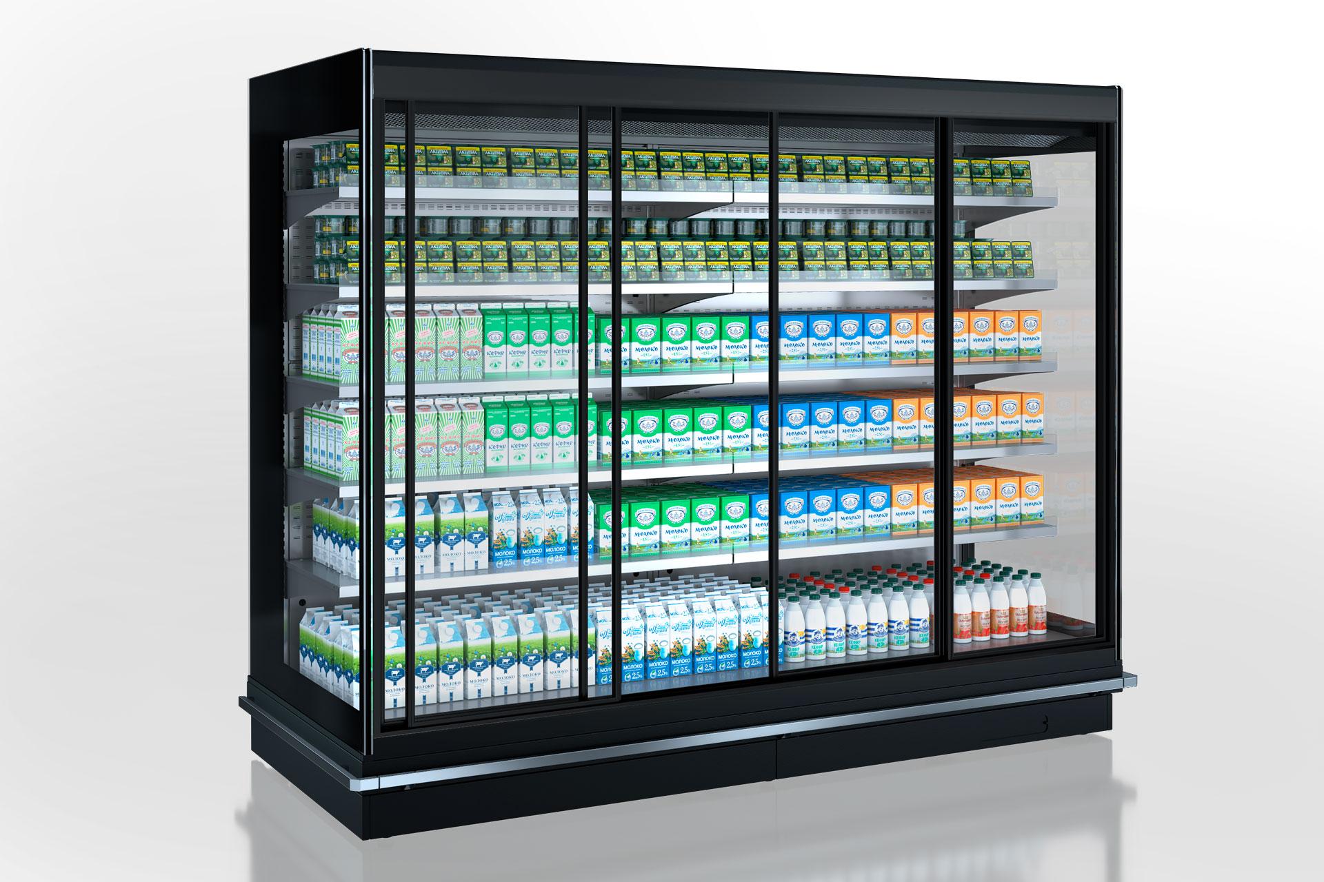 Холодильные пристенные витрины Louisiana 5 MV 105 MT D 210-DLM