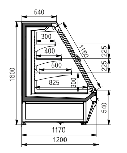 Halbhohe Wandkühlregale Louisiana eco ASV 115 MT D 160-DLA