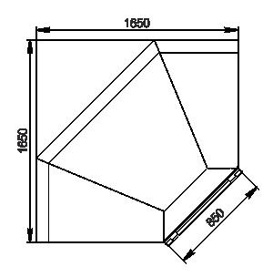 Пристенные витрины Louisiana MV 105 MT O 210-DLM-IS90 - Вид сверху