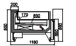 Холодильная витрина Missouri MC 120 LT self 086-DLM
