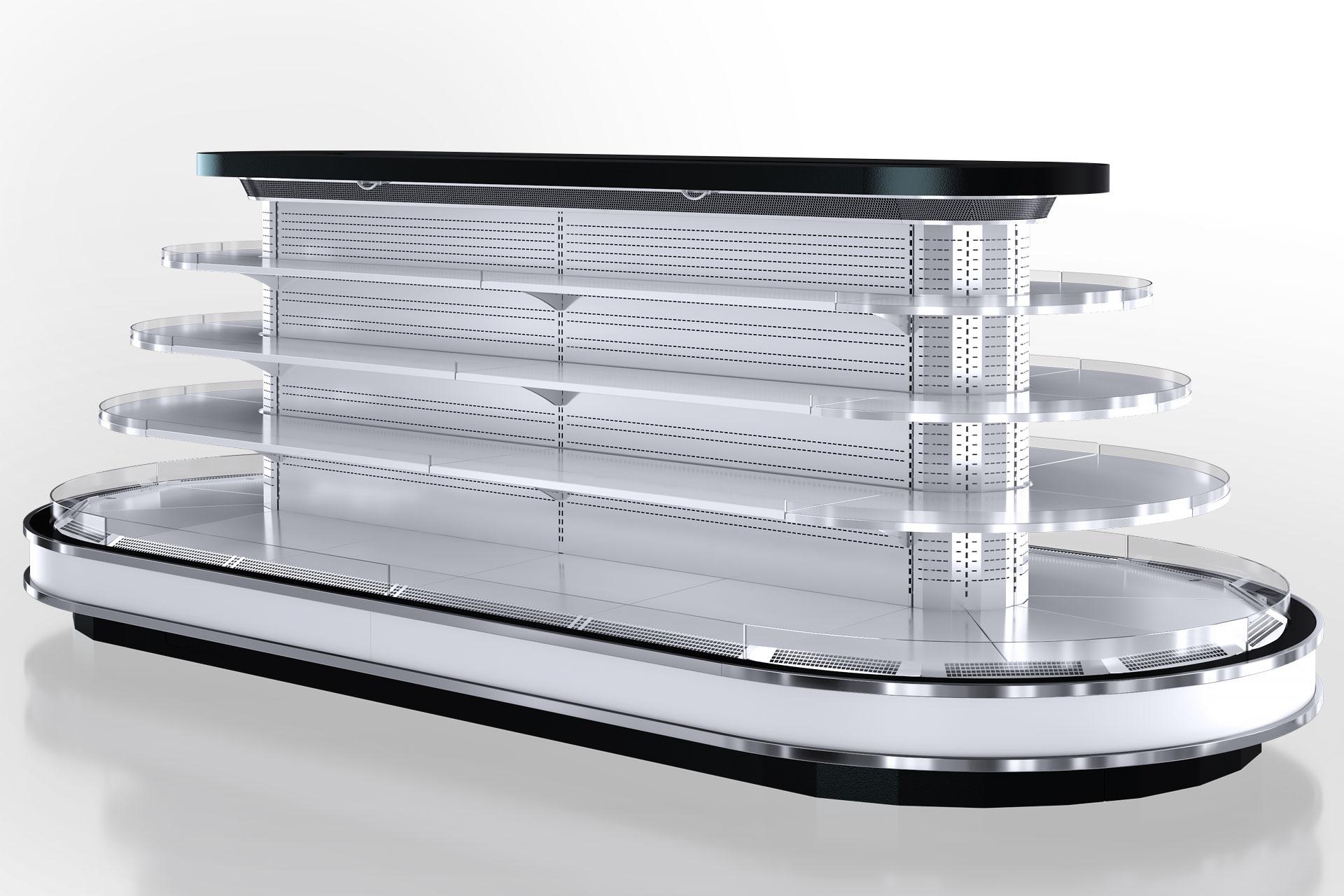 Холодильні напіввертикальні вітрини Мissouri cold diamond Island MV 095/110 deli self 150-DLM - острівна версія