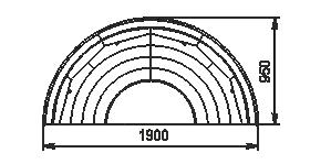 Semi-vertical cabinets Missouri cold diamond island 095 deli LF 150-DLM-TL-1567