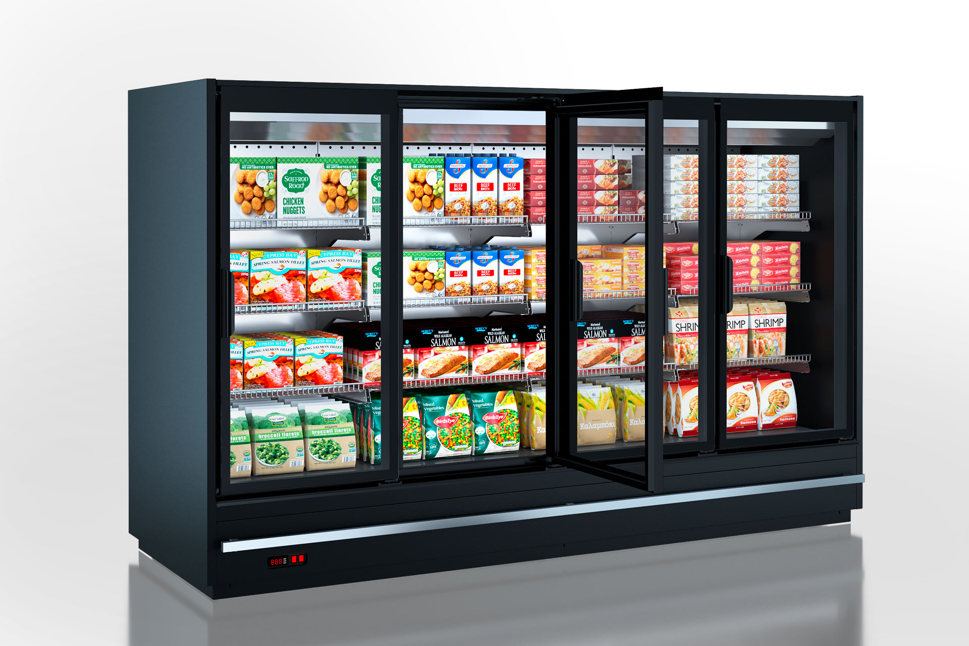 Refrigerated  multideck cabinets Indiana MV 080 LT D 160-DLM