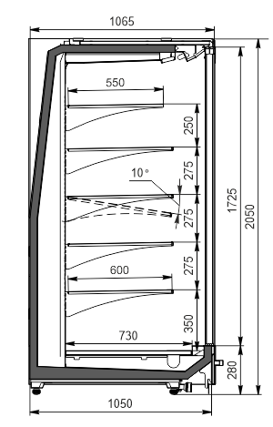 Wandkühlregale Indiana MV 105 MT D 205-DLM
