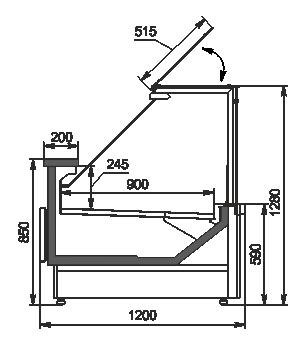 Kühlvitrinen Missouri MC 120 deli PP 130-DBM
