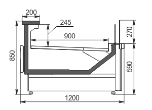 Kühlvitrinen Missouri MC 120 deli self 086-DBM