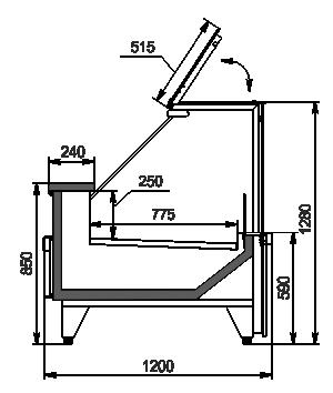 Kühlvitrinen Missouri MC 120 deli PP 130-SBM