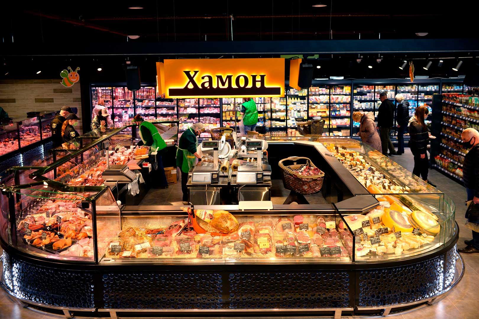 """Kuhlvitrinen Missouri MC 120 deli PS M, Supermarkt """"Pchyolka-market"""""""