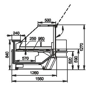 Refrigerated counters Missouri cold diamond MC 126 accent PS 130-DBM