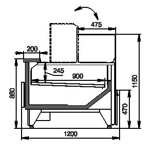 Вітрини Missouri MC 120 deli convertible 115-DBM