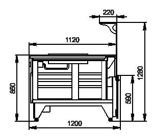 Kühlvitrinen Missouri NC 120 pan L 130
