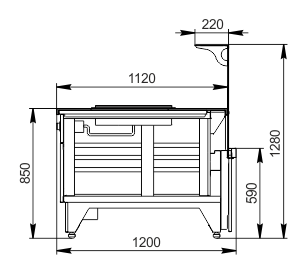 Counters Missouri NC 120 pan L 130