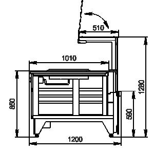 Kühlvitrinen Missouri NC 120 pan PP 130