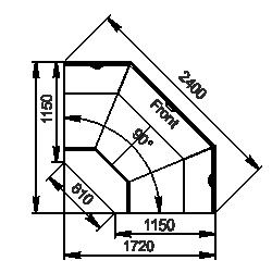 Winkelelement Missouri cold diamond MC 115 deli OS 121-DLM/DLA-ES90
