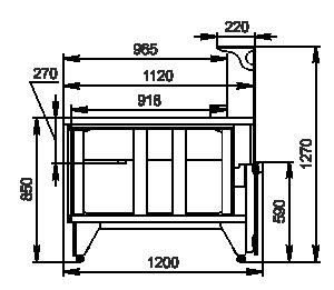 Kühlvitrinen Missouri NC 120 pan 3 L 120