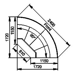 Winkelelement Missouri cold diamond MC 115 deli OS 121-DLM/DLA-ER90