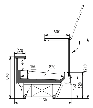 Refrigerated counters Missouri cold diamond MC 115 fish PS 2 121-SPLA