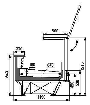 Холодильна вітрина Missouri cold diamond MC 115 fish PS 2 121-SPLA