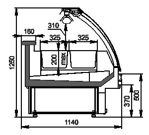 Kühlvitrinen Sphere NG 114 heat BM 125