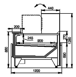 Вітрини Missouri MC 120 deli convertible 130-DBM