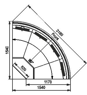 Угловой элемент Missouri MC 120 deli self 086-DLM-ER90