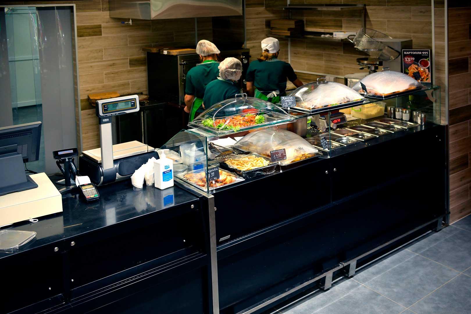 """Спеціалізована вітрина Missouri MC 100 sushi/pizza L 130, супермаркет """"Пчелка-маркет"""""""