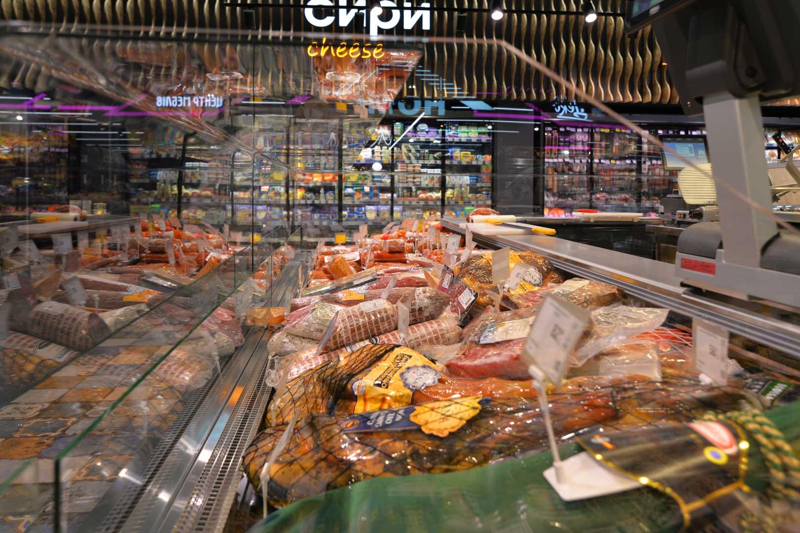 """Kuhlvitrinen Missouri MC 120 deli OS M, Supermarkt """"Epicentr"""" Poltawa"""