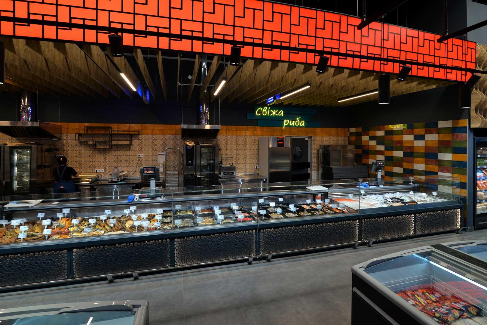 """Холодильные витрины Missouri MC 120 deli OS M, супермаркет """"Эпицентр"""", Полтава"""