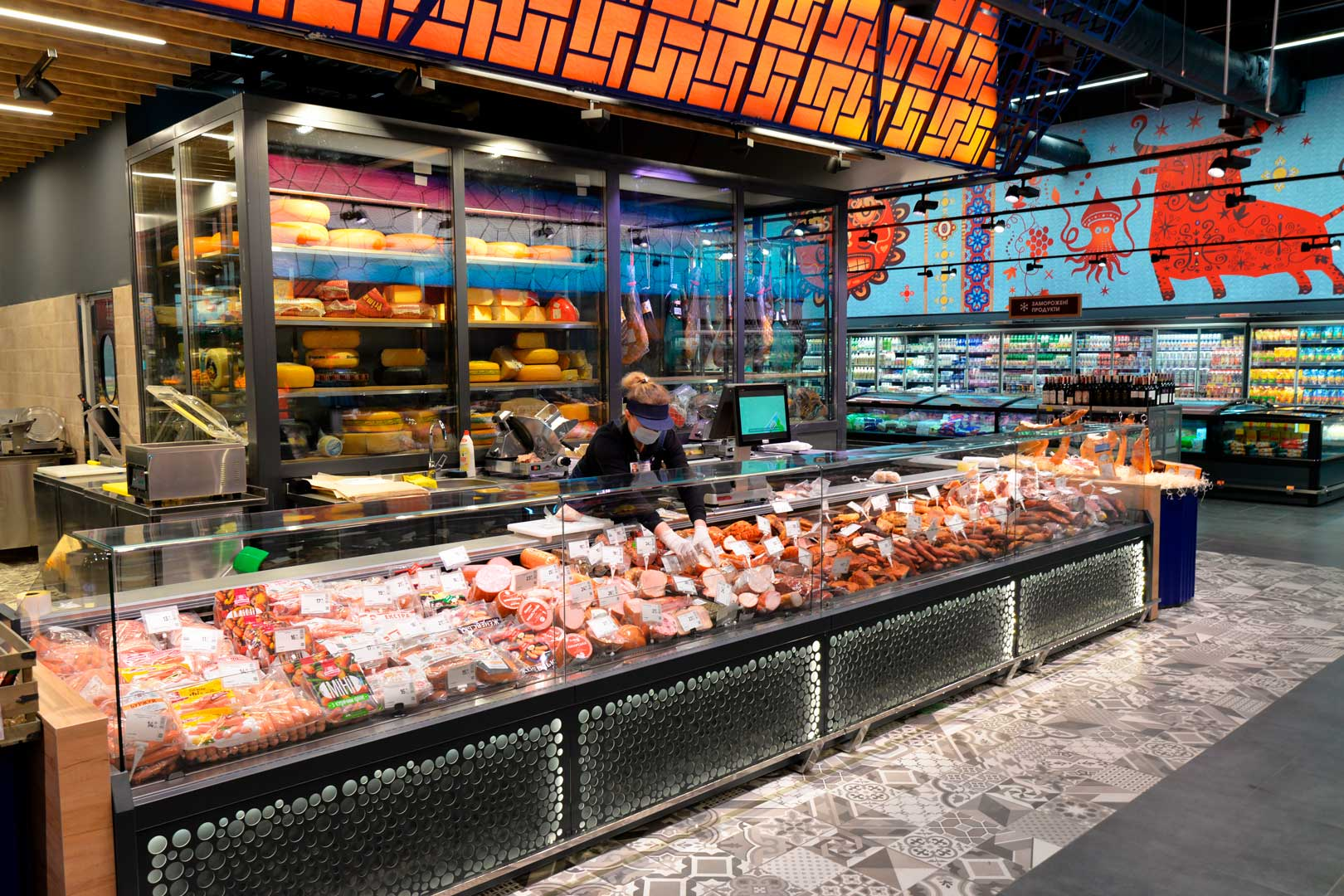 """Холодильні вітрини Missouri MC 120 deli OS M, супермаркет """"Епіцентр"""", Київ"""