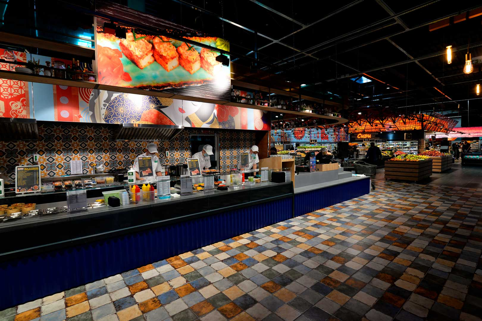 "Витрина Missouri MC 120 sushi/pizza OS M, супермаркет ""Эпицентр"", Киев"