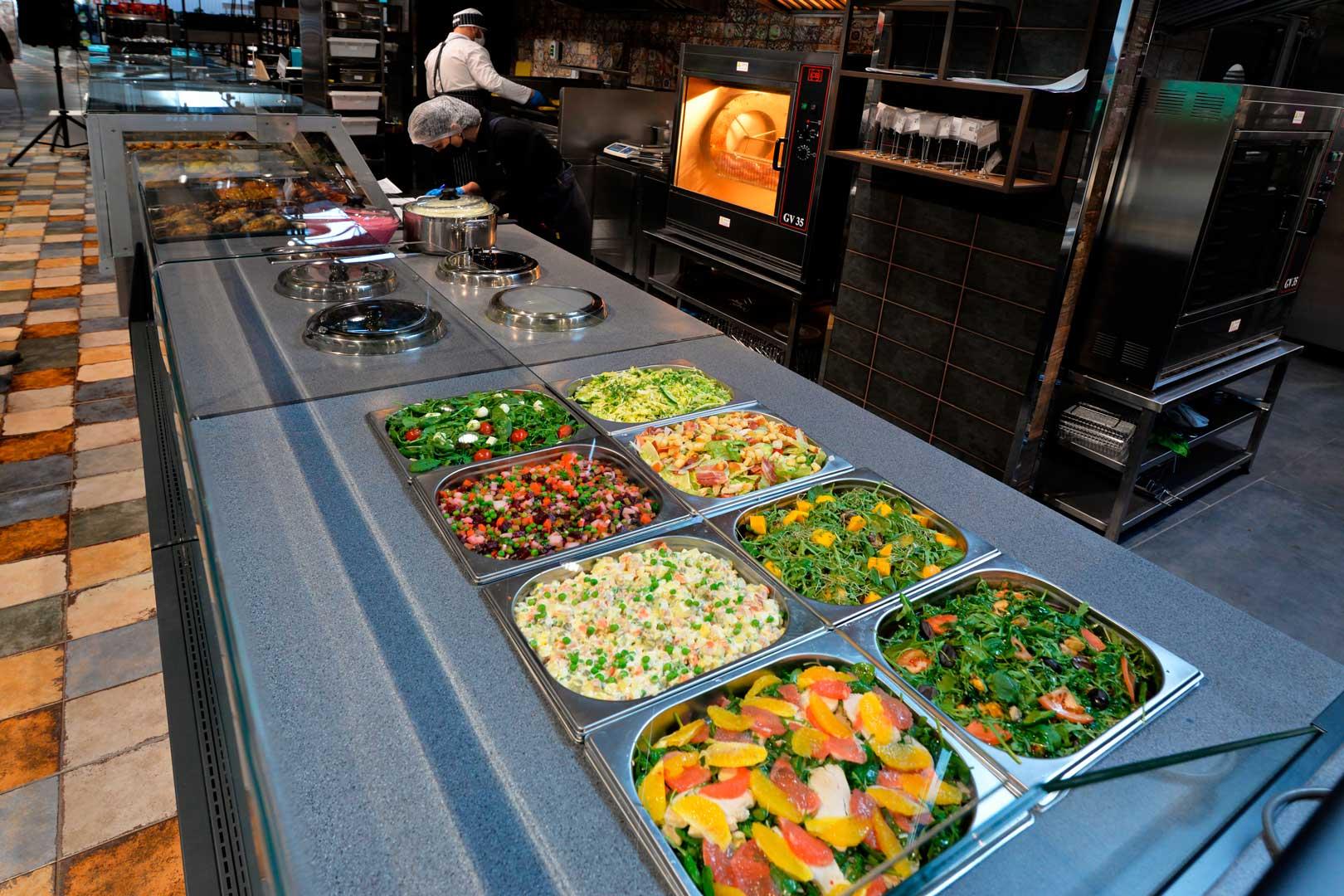 "Refrigerated counters Missouri MС 120 salads OS 120, supermarket ""Epicentr"" Kiev"