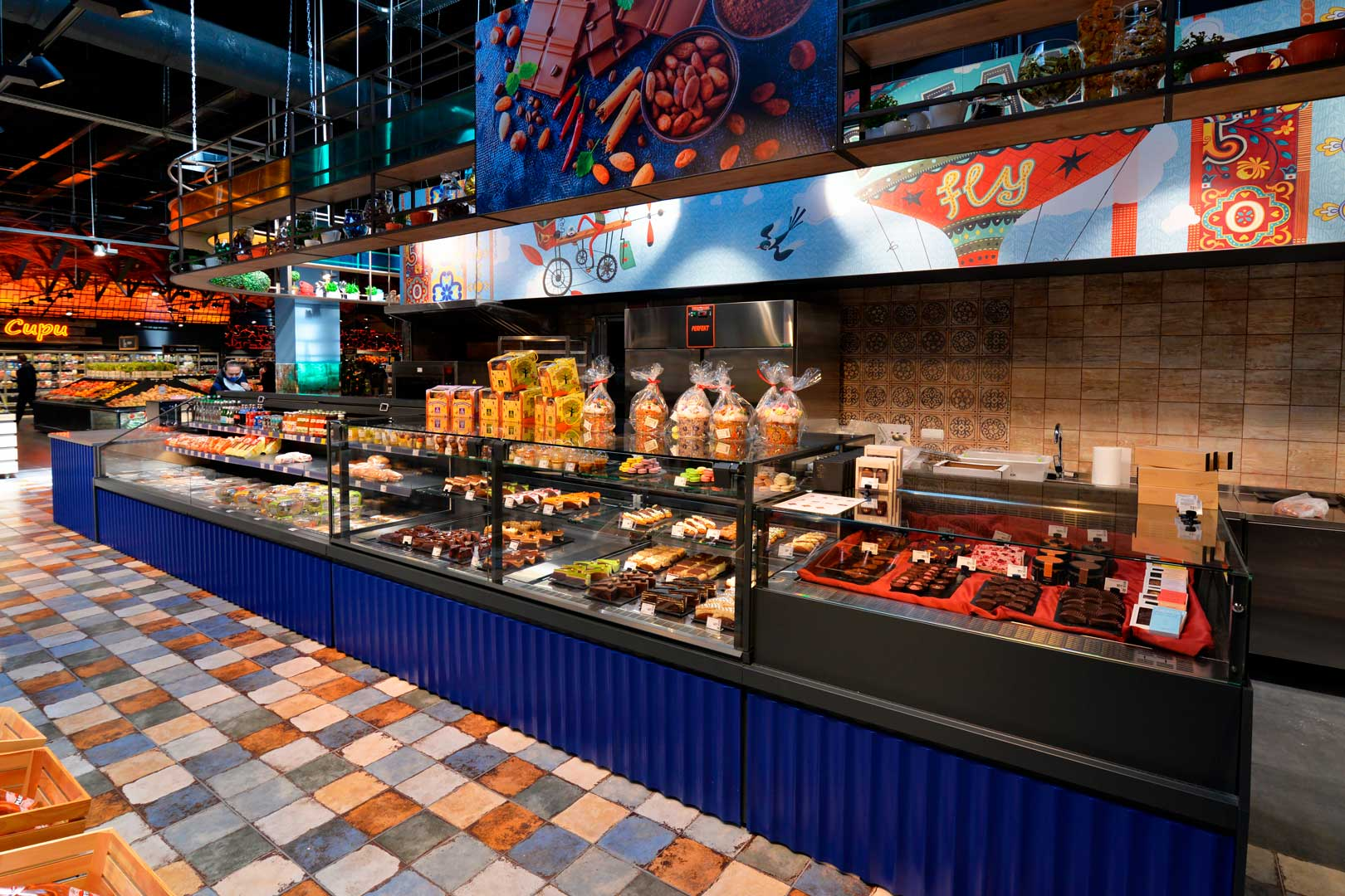 """Counter for confectionery products Missouri MC 120 patisserie PS/OS M, supermarket """"Epicentr"""" Kiev"""